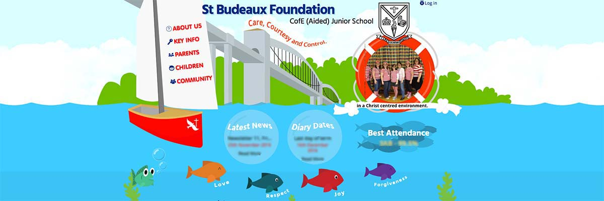 Screen shot of the Foundation School website