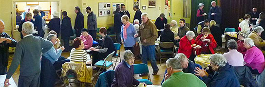 Photo of people in the church hall