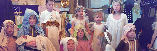 Photo of a nativity play by the children